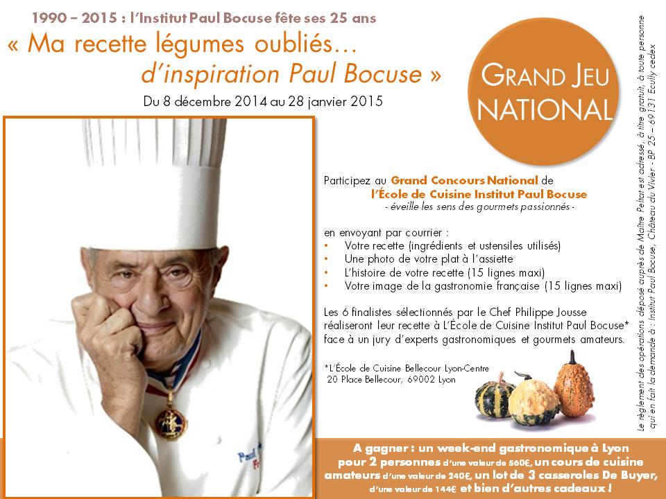 LÉcole De Cuisine Institut Paul Bocuse Lance Un Concours National - Cours de cuisine bocuse