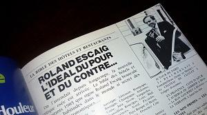 article Roland Escaig : L'ideal du pour et du contre...